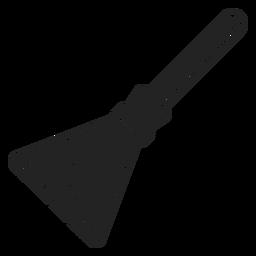 Icono de escoba de bruja negro