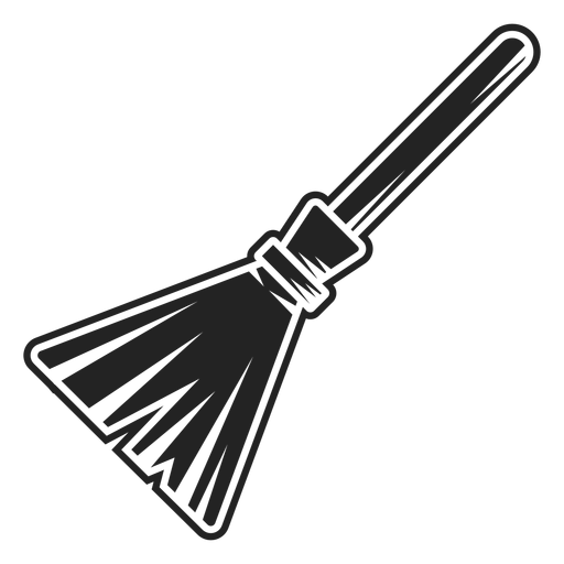 Witch Broom Icon Black Transparent Png Svg Vector File