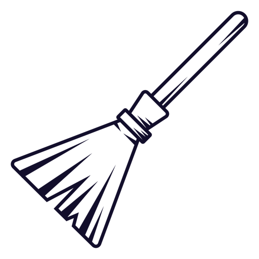 Witch broom icon line