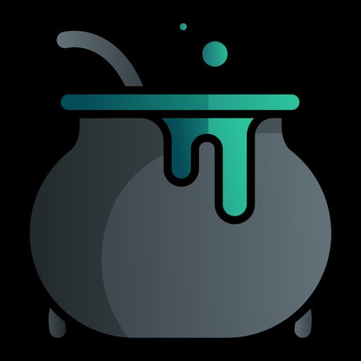 Icono de dibujos animados de caldero de bruja Transparent PNG