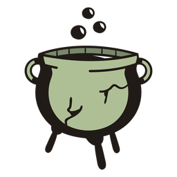 Witch cauldron hand drawn
