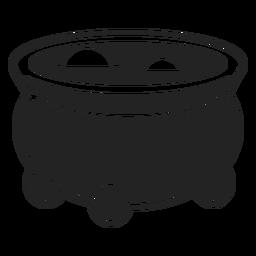 Ícone do caldeirão de bruxa preto