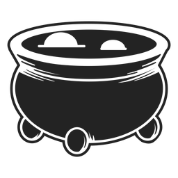 Witch cauldron icon black