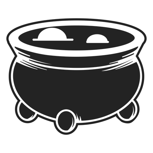 Icono de caldero de bruja negro Transparent PNG