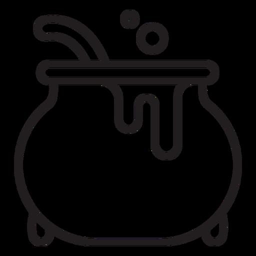Icono de línea de caldero de bruja Transparent PNG