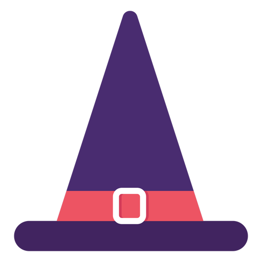 Witch hat flat halloween Transparent PNG