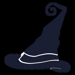 Sombrero de bruja silueta plana