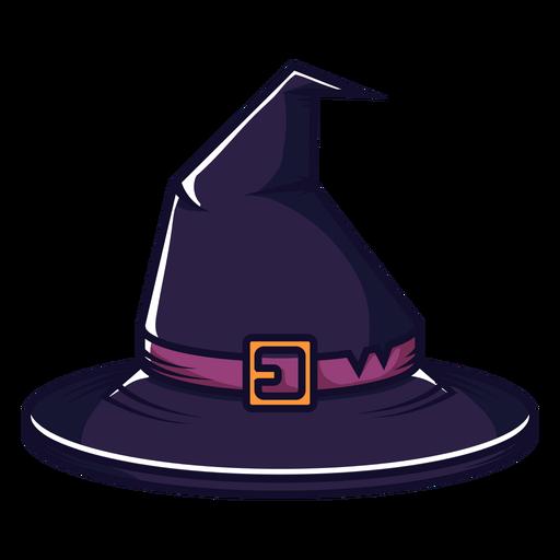 Dibujos animados de vista frontal de sombrero de bruja