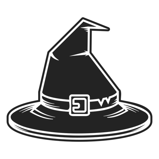 Witch hat front view icon black