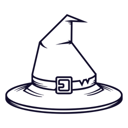 Witch hat front view icon line