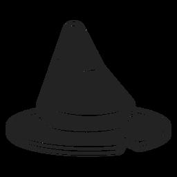 Icono de sombrero de bruja negro