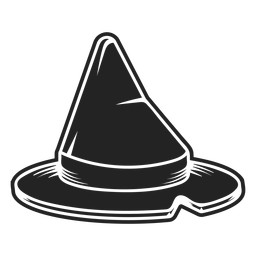 Witch hat icon black