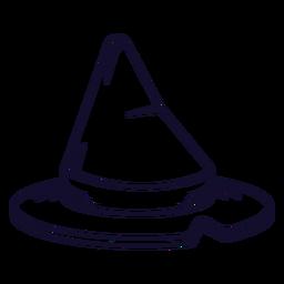 Línea de icono de sombrero de bruja