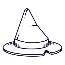 Witch hat icon line
