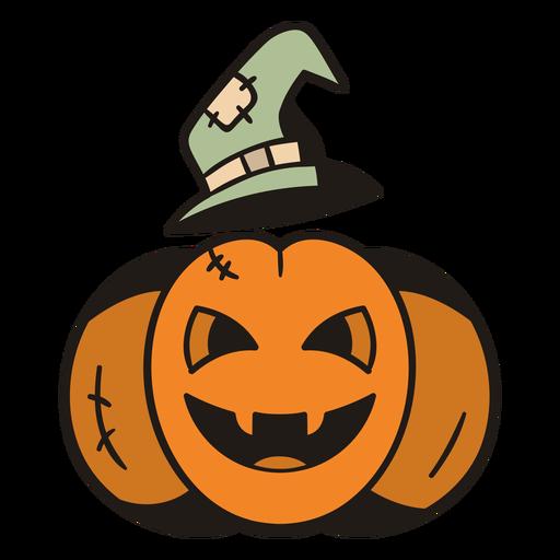 Witch pumpkin hand drawn