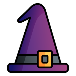 Witches hat cartoon icon