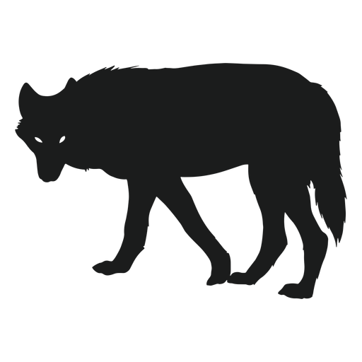 Wolf circling silhouette