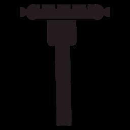 Wurst en tenedor negro
