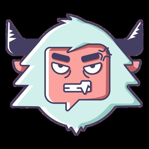 Yeti enojado emoji