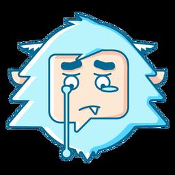 Yeti llorando emoji