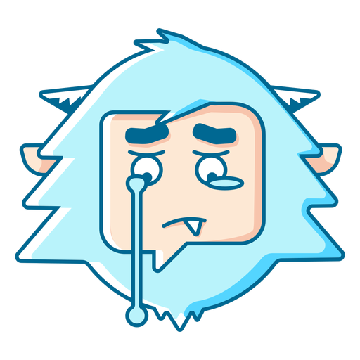 Yeti crying emoji Transparent PNG