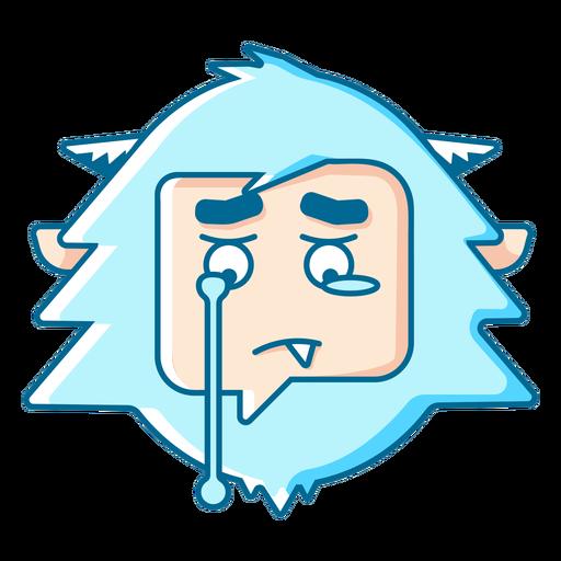 Yeti llorando emoji Transparent PNG