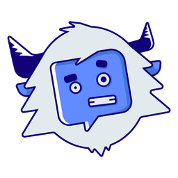 Yeti embarrassed emoji