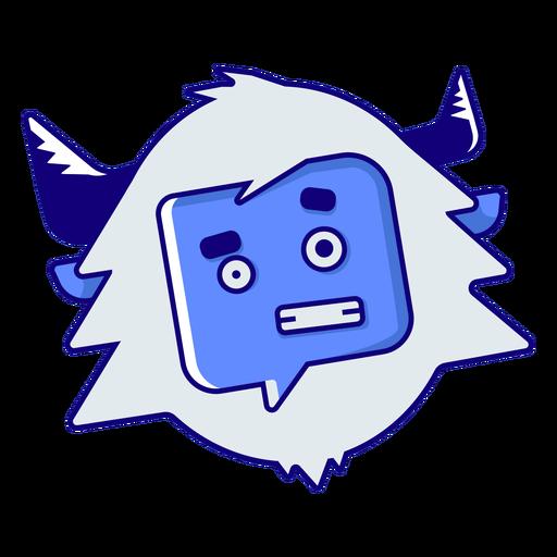 Yeti avergonzado emoji Transparent PNG