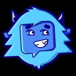 Yeti grimacing emoji