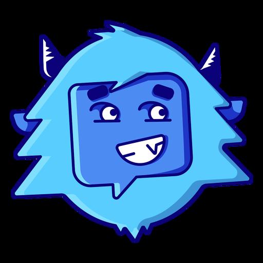 Yeti grimacing emoji Transparent PNG