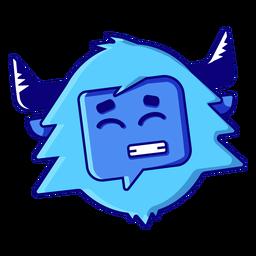 Yeti smile emoji