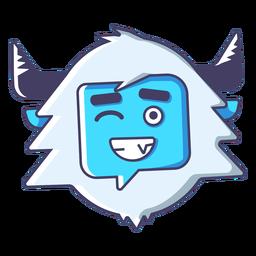 Yeti guiño emoji