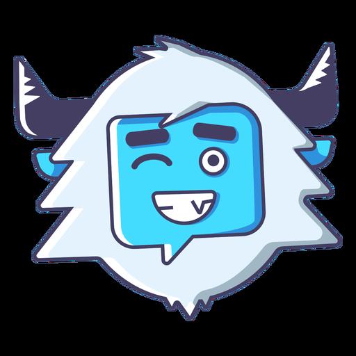 Yeti wink emoji