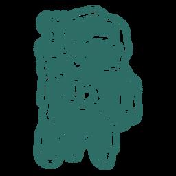 Zombie b letter sticker