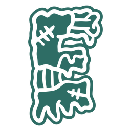 Zombie e letter sticker