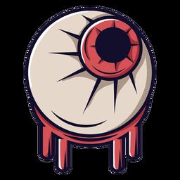 Ícone dos desenhos animados do globo ocular de zumbi