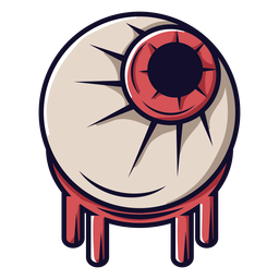 Zombie eyeball cartoon icon