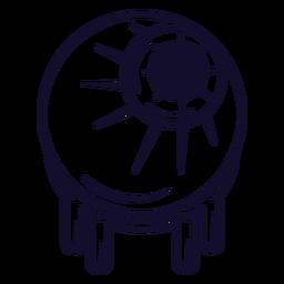 Línea de icono de globo ocular Zombie