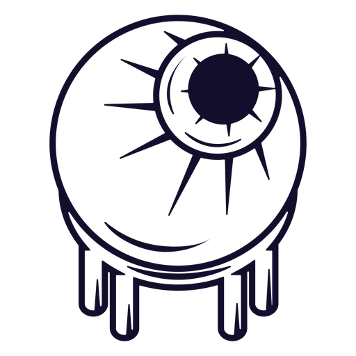Zombie eyeball icon line Transparent PNG