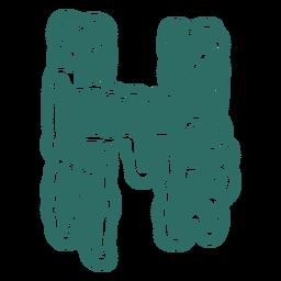 Zombie h letter sticker