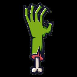 Ícone de desenho animado de mão zumbi