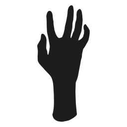 Zombie hand element silhouette
