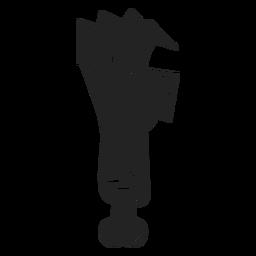 Icono de mano Zombie negro
