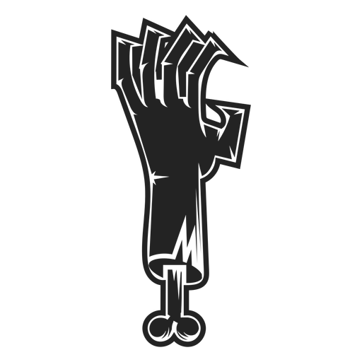 Zombie hand icon black - Transparent PNG & SVG vector file