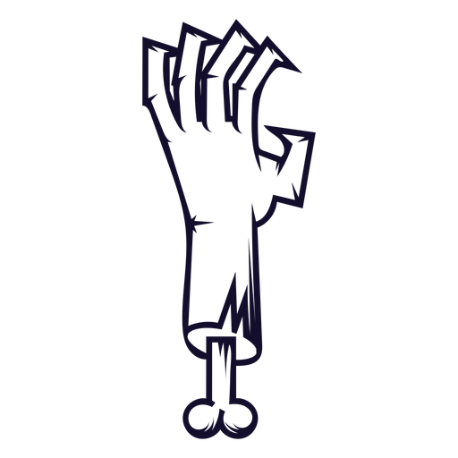 Zombie hand icon line - Transparent PNG & SVG vector file