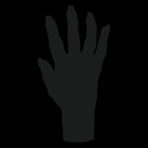 Silhueta de mão de zumbi