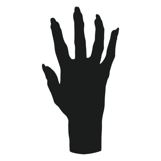 Zombie hand silhouette