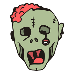 Zombie head hand drawn