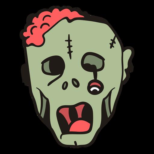 Dibujado a mano cabeza de zombie