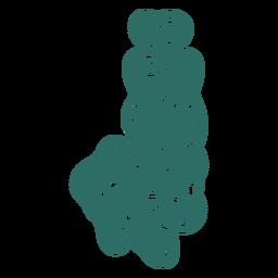 Zombie j letter sticker